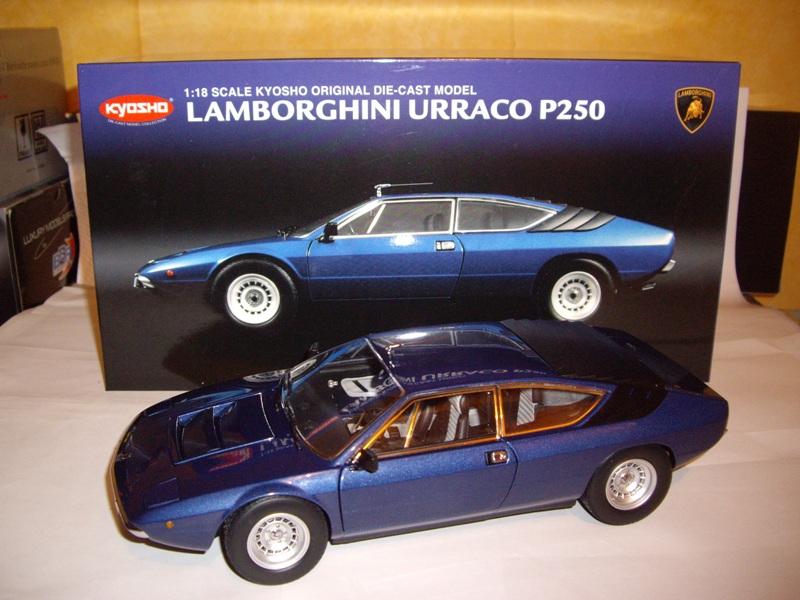 18 Lamborghini Urraco P250 1970 Kyosho Bleu 08441BM